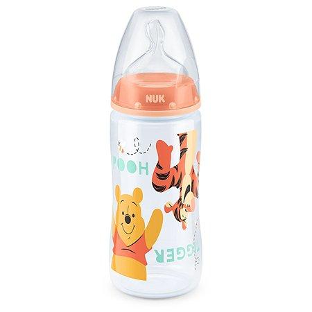 Бутылочка Nuk Disney First Choice Plus 300мл Персиковая