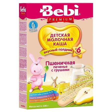 Каша для полдника Bebi молочная пшеничная печенье-груша 200г с 6месяцев