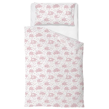 Комплект постельного белья Baby Nice Облака 4предмета Розовый H19/6RO