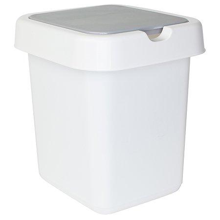 Контейнер для мусора SVIP Квадра 9л Белый