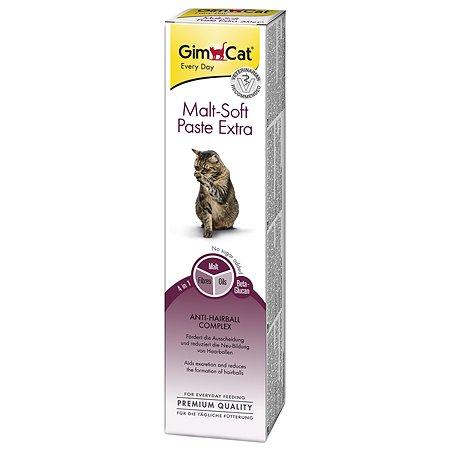 Паста для кошек Gimcat Мальт-Софт-Экстра для выведения шерсти 100г