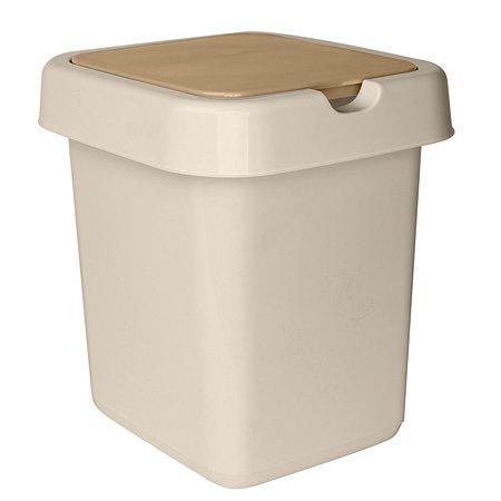 Контейнер для мусора SVIP Квадра 9л Кофейный