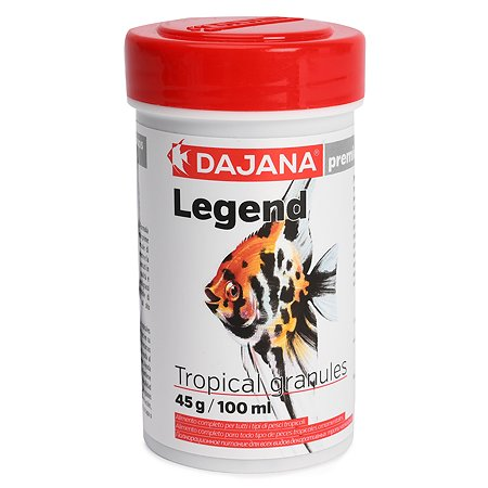 Корм для рыб DAJANA Legend Tropical гранулы 100мл DP117A1