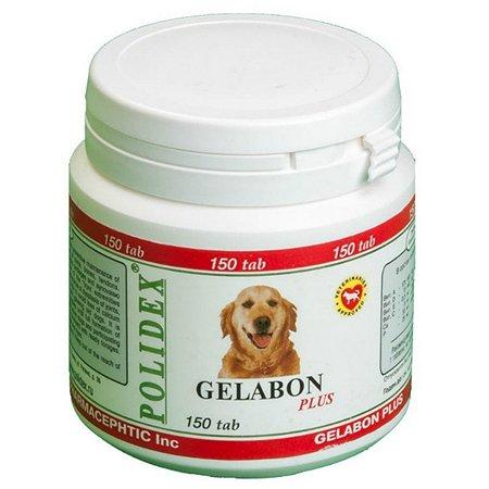 Витамины для собак Polidex Гелабон плюс 150таблеток