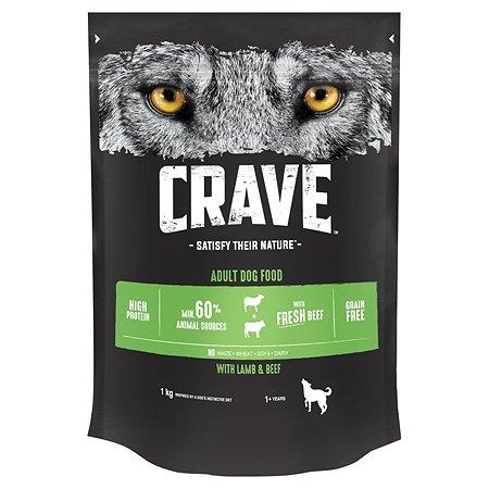 Корм для собак Crave говядина-ягненок 1кг