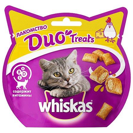 Лакомство для кошек Whiskas Duo с курицей и сыром 40г