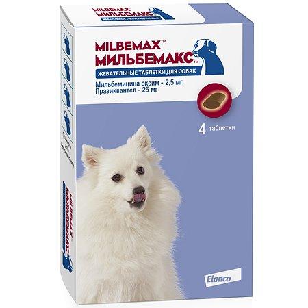 Антигельминтикик для щенков и собак Elanco Мильбемакс 2.5/25мг 4таблетки