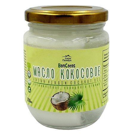 Масло Дары Памира Boncocos Organic кокосовое холодного отжима 200мл