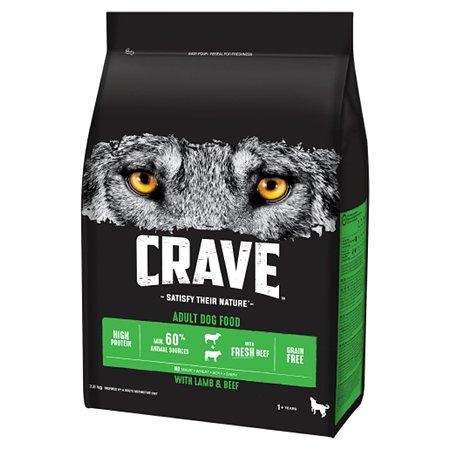 Корм для собак Crave говядина-ягненок 2.8кг