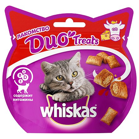Лакомство для кошек Whiskas Duo с говядиной и сыром 40г