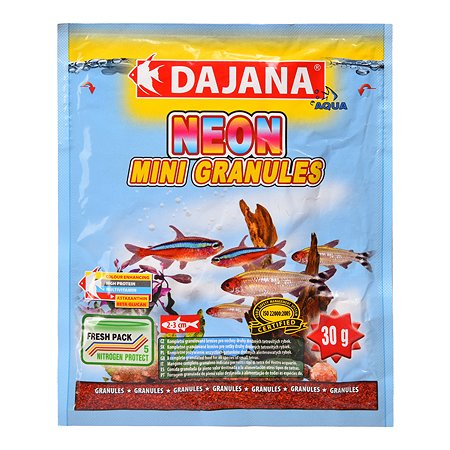 Корм для рыб DAJANA Neon мини-гранулы 80мл DP104S