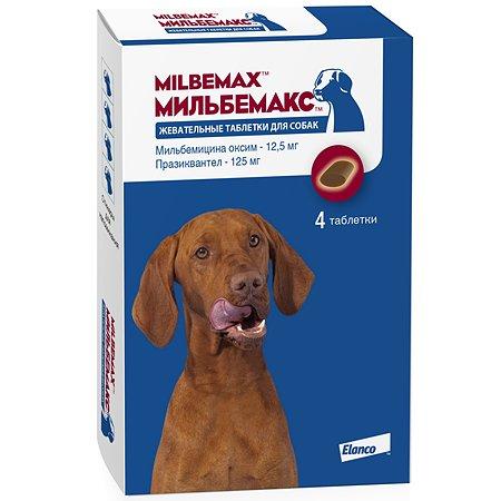 Антигельминтикик для собак Elanco Мильбемакс 12.5/125мг 4таблетки
