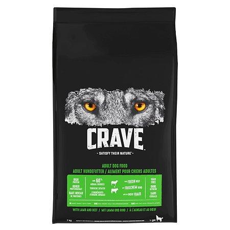 Корм для собак Crave говядина-ягненок 7кг