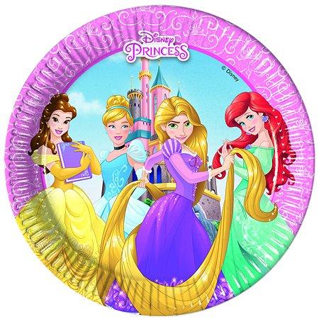 Бумажные тарелки Princess Heartstrong средние 20 см 8 шт.