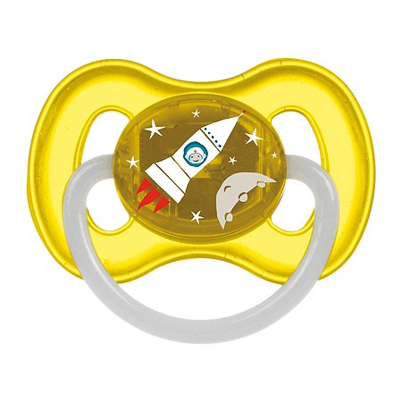 Пустышка Canpol Babies Space круглая латексная 0-6 месяцев Желтая