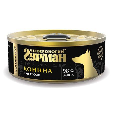 Корм для собак Четвероногий Гурман Golden конина натуральная в желе 100г