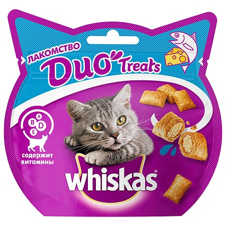 Лакомство для кошек Whiskas Duo с лососем и сыром 40г