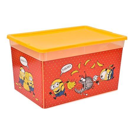 Коробка Полимербыт Миньоны 16л Бордо
