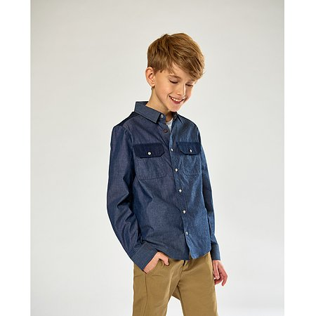 Рубашка Futurino Fashion синяя