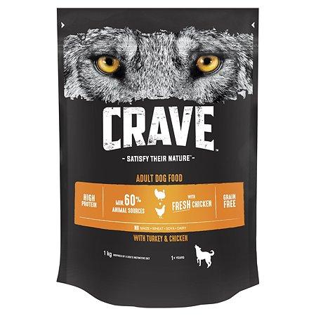 Корм для собак Crave курица-индейка 1кг