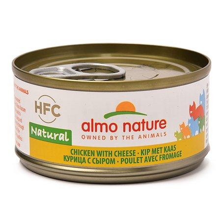 Корм влажный для кошек ALMO NATURE Legend 70г курица-сыр консервированный
