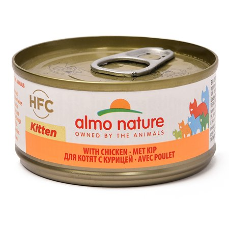 Корм влажный для котят ALMO NATURE Legend 70г курица консервированный