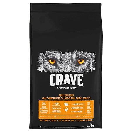 Корм для собак Crave курица-индейка 7кг
