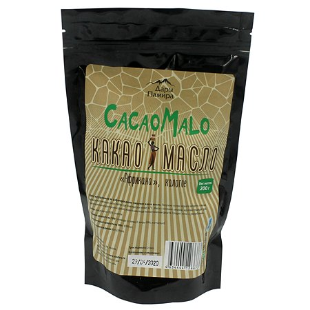 Какао масло Дары Памира Африкана нерафинированное колотое 200г