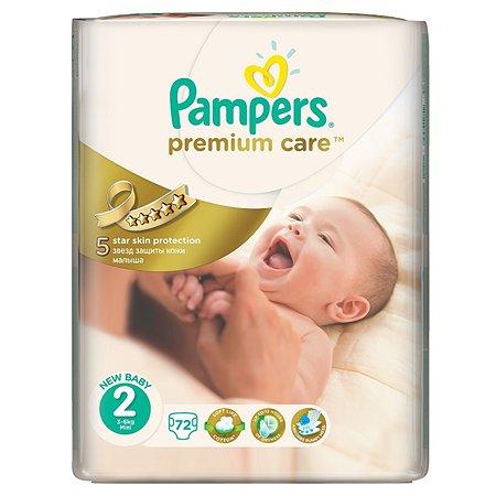 Подгузники Pampers Premium Care Экономичная 3-6кг 72шт