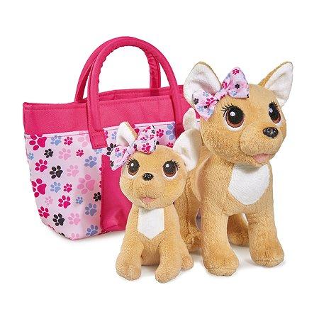 Игрушка мягкая Chi Chi Love Счастливая семья 2 собачки в сумочке 5893213