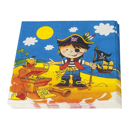 Салфетка GCI Маленький пират 12шт 1502-1284(1286) в ассортименте