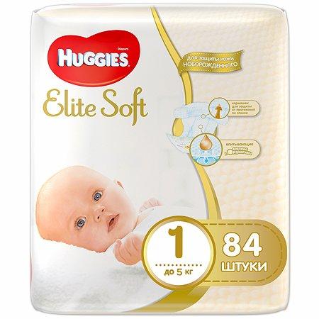 Подгузники Huggies для новорожденных Elite Soft 1 до 5кг 84шт