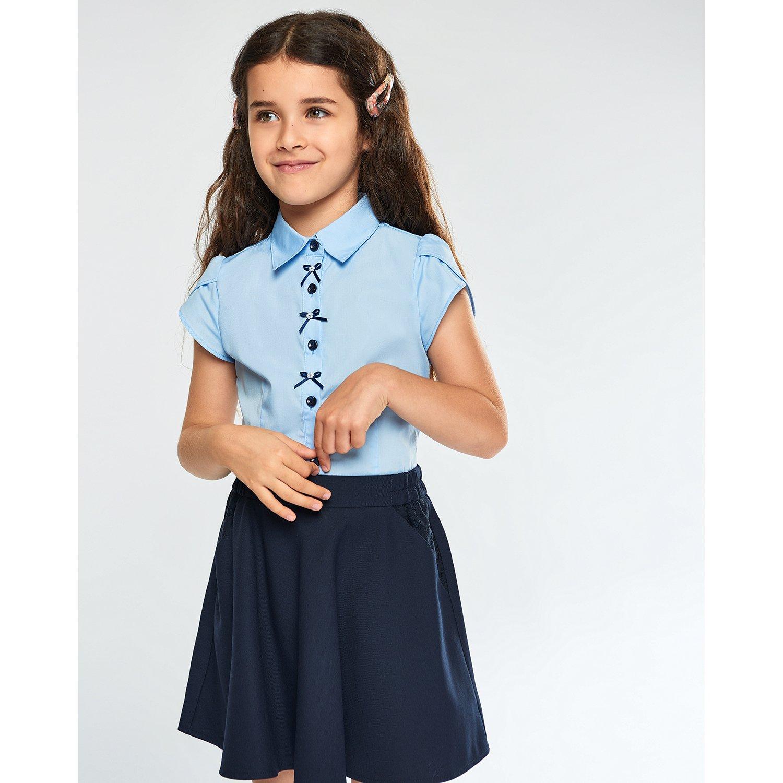 Блузка Futurino School голубая