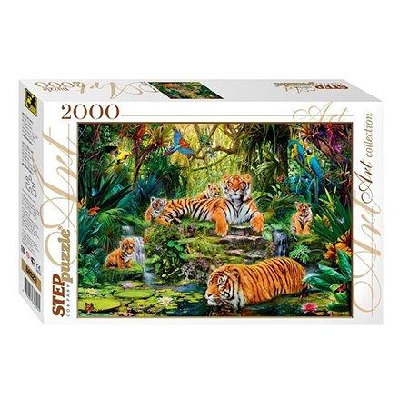Пазл Step Puzzle В джунглях Тигры 2000 элементов 84020