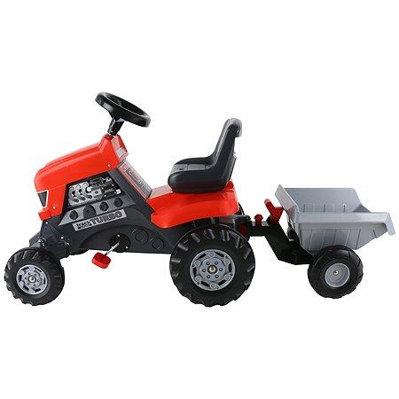 Каталка-трактор Полесье с педалями Turbo с полуприцепом