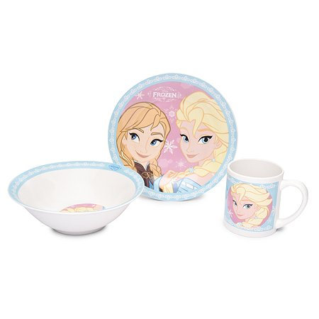Набор посуды STOR Snack Set Frozen Sisters 3 предмета 1CSC20002672