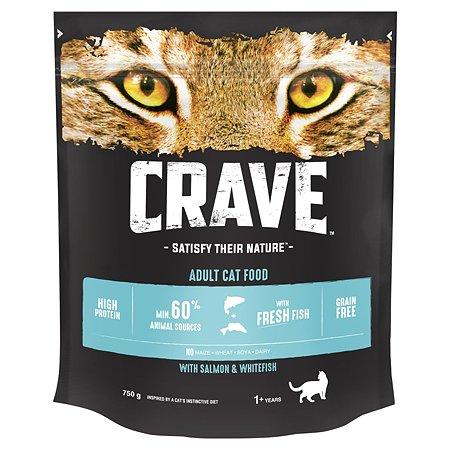 Корм для кошек Crave лосось-рыба 750г