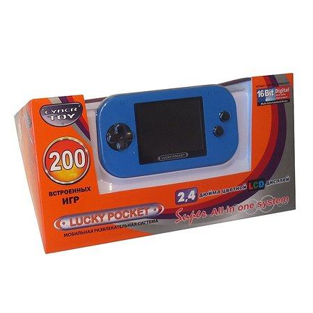 Игровая приставка CyberToy LuckyPocket 200 игр (синий)