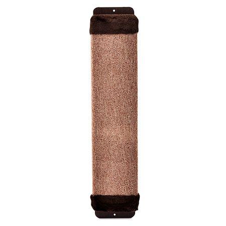 Когтеточка для кошек Зверье мое ковровая с мехом с пропиткой средняя 14407