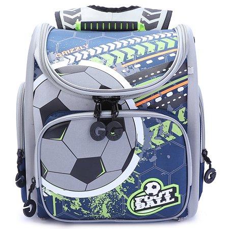 Рюкзак школьный Grizzly Футбол Черный-Салатовый RA-970-1/1