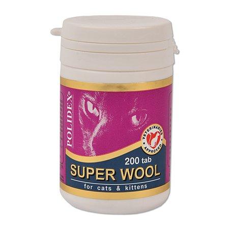 Витамины для кошек Polidex Супер Вул 200таблеток