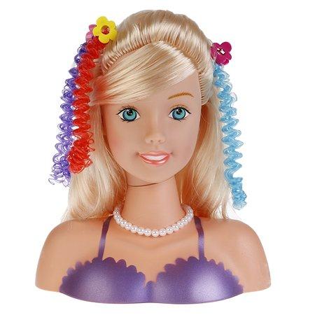 Кукла Карапуз Манекен для создания причесок с аксессуарами для волос 257036