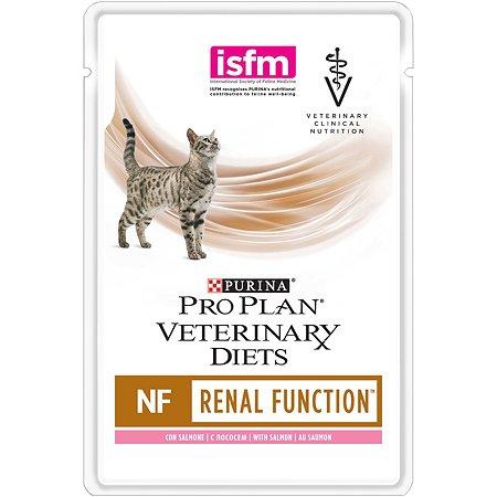 Корм для кошек Purina Pro Plan Veterinary diets NF при заболевании почек лосось пауч 85г