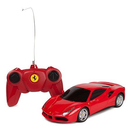 Машинка на радиоуправлении Rastar Ferrari 488 GTB 1:24 Красная
