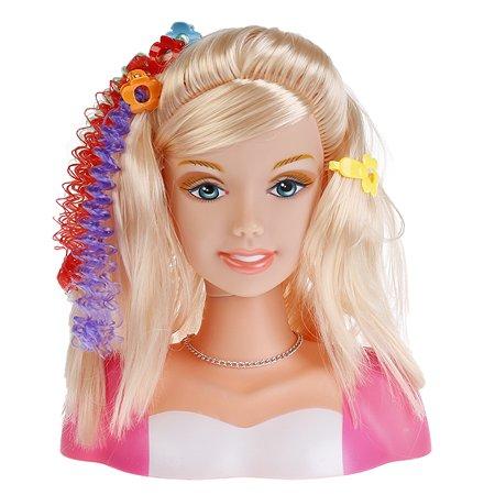 Кукла Карапуз Манекен для создания причесок с аксессуарами для волос и косметикой 257787