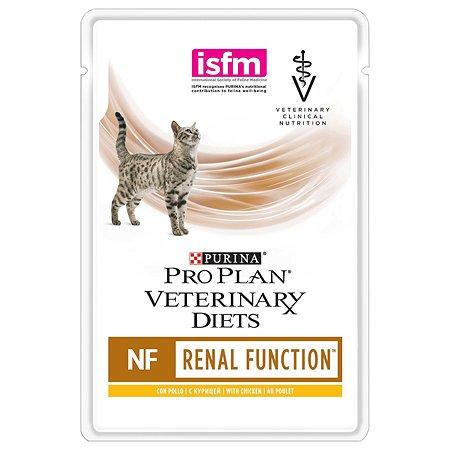 Корм для кошек Purina Pro Plan Veterinary diets NF при заболевании почек курица пауч 85г