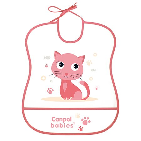 Нагрудник Canpol Babies Котенок Розовый 250930229
