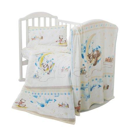 Комплект постельного белья Baby Nice Мишка на луне 4предмета H18/18