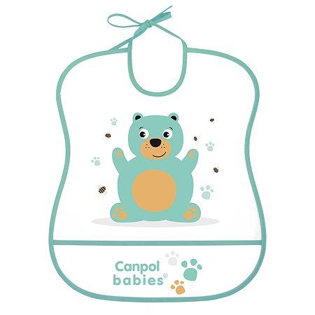 Нагрудник Canpol Babies Мишка Бирюзовый 250989454