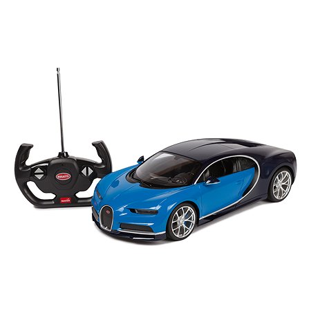 Машинка на радиоуправлении Rastar Bugatti Chiron 1:14 Голубая